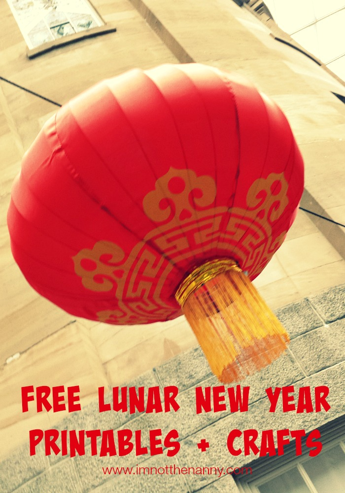 Free Lunar New Year Printables Amp Crafts Im Not The Nanny