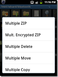 Zip or Unzip rar files in Android by AndroZip