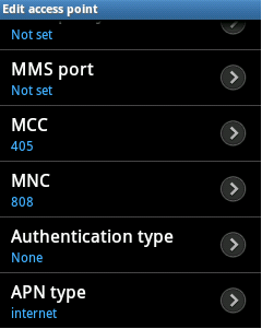 APN of Aircel for Android Samsung, Micromax, Sony