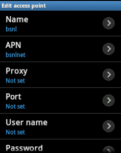 APN of BSNL for Android Samsung, Micromax, Sony
