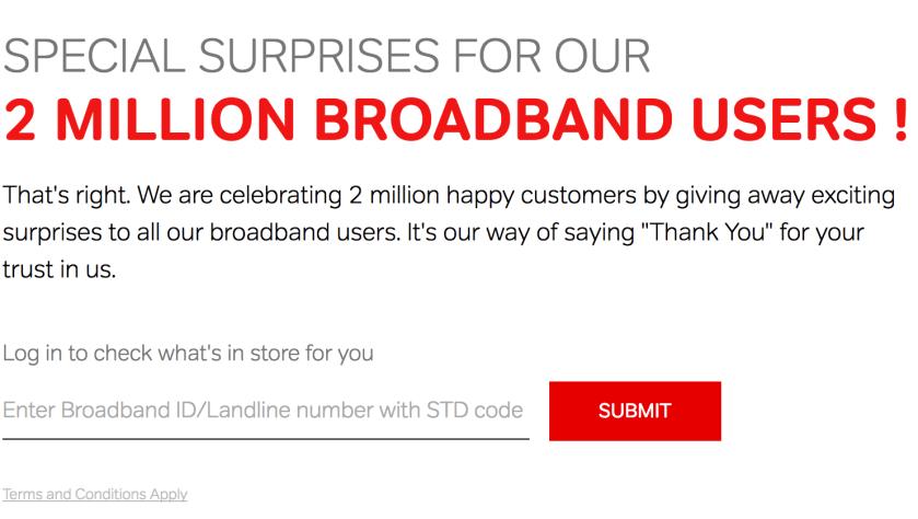 Airtel broadband offers