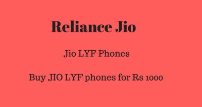 Jio Lyf Easy Smartphone