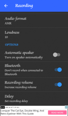 Automatic Call Recorder App