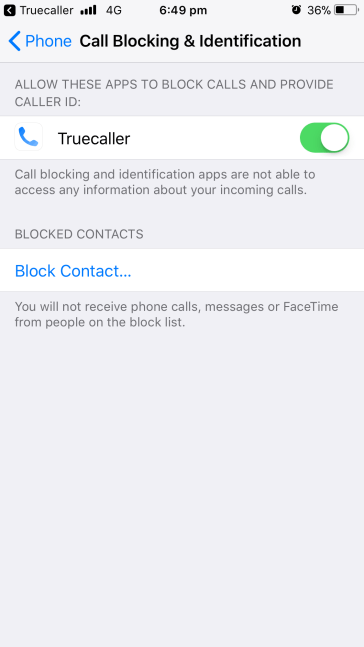 enable truecaller in iOS