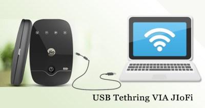 USB tethering Via JIOFI