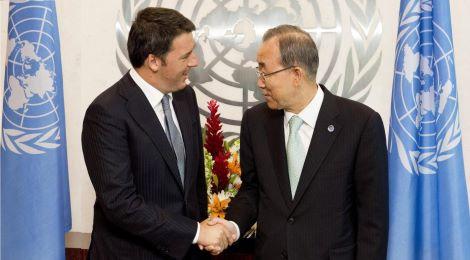Ban Ki-Moon meets Matteo Renzi
