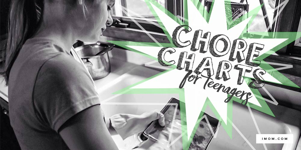 Chore charts teenagers imom, love printable coloring pages