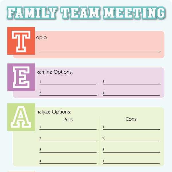 Family Meeting Tool IMom