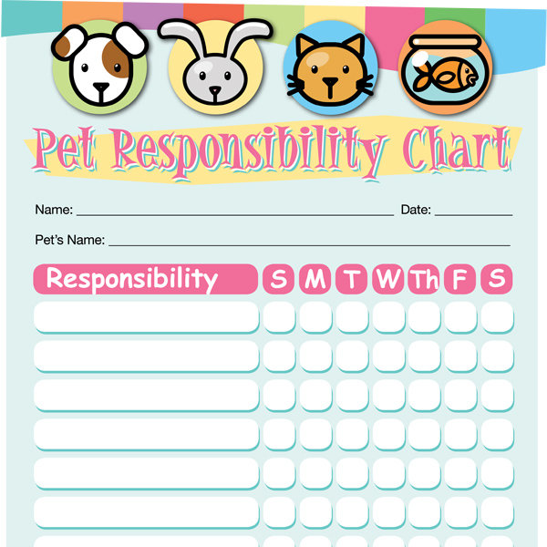 pet responsibility chart imom