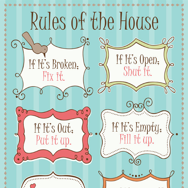 Rules Of The House IMom