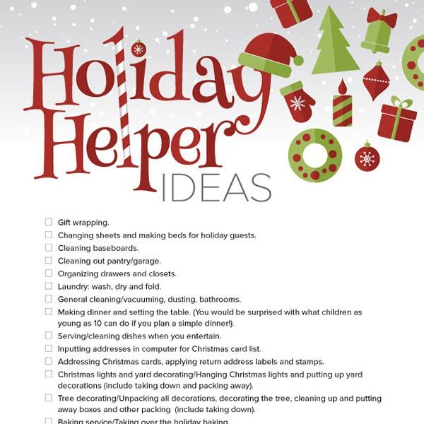 Holiday Helper Ideas IMom