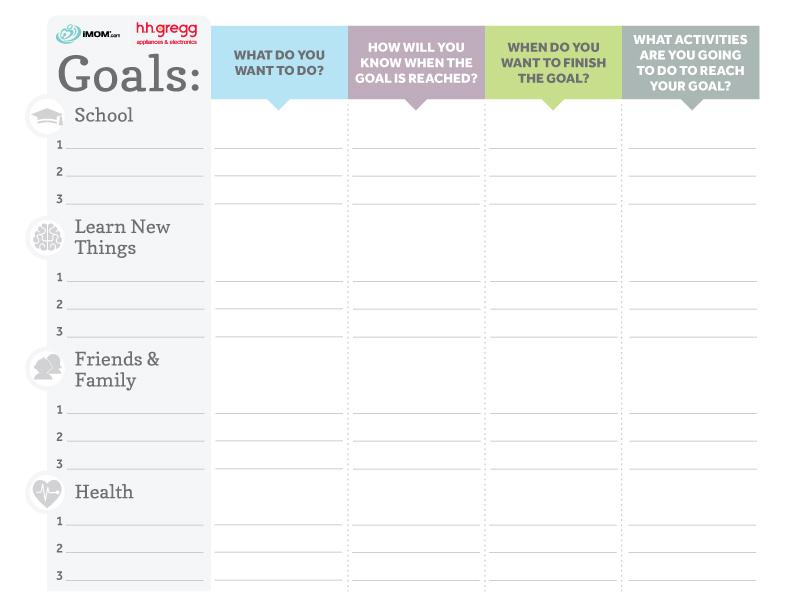 Brilliant Goals Chart For Kids IMom