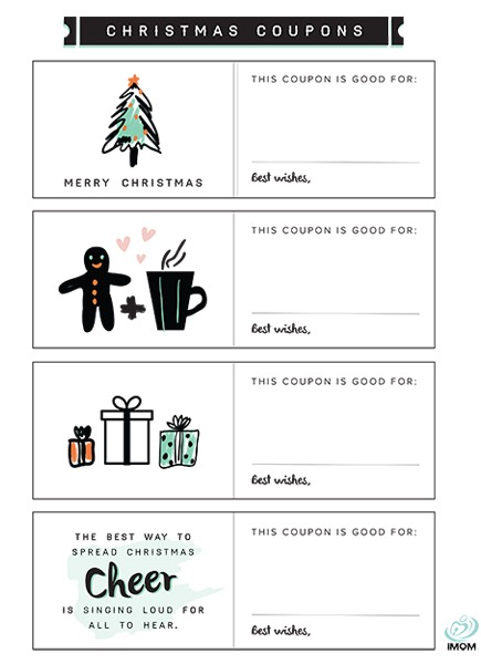 Christmas coupons imom, i love mom coloring pages