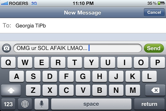 TiPb Guide: Common Internet, SMS Text, and iMessage slang