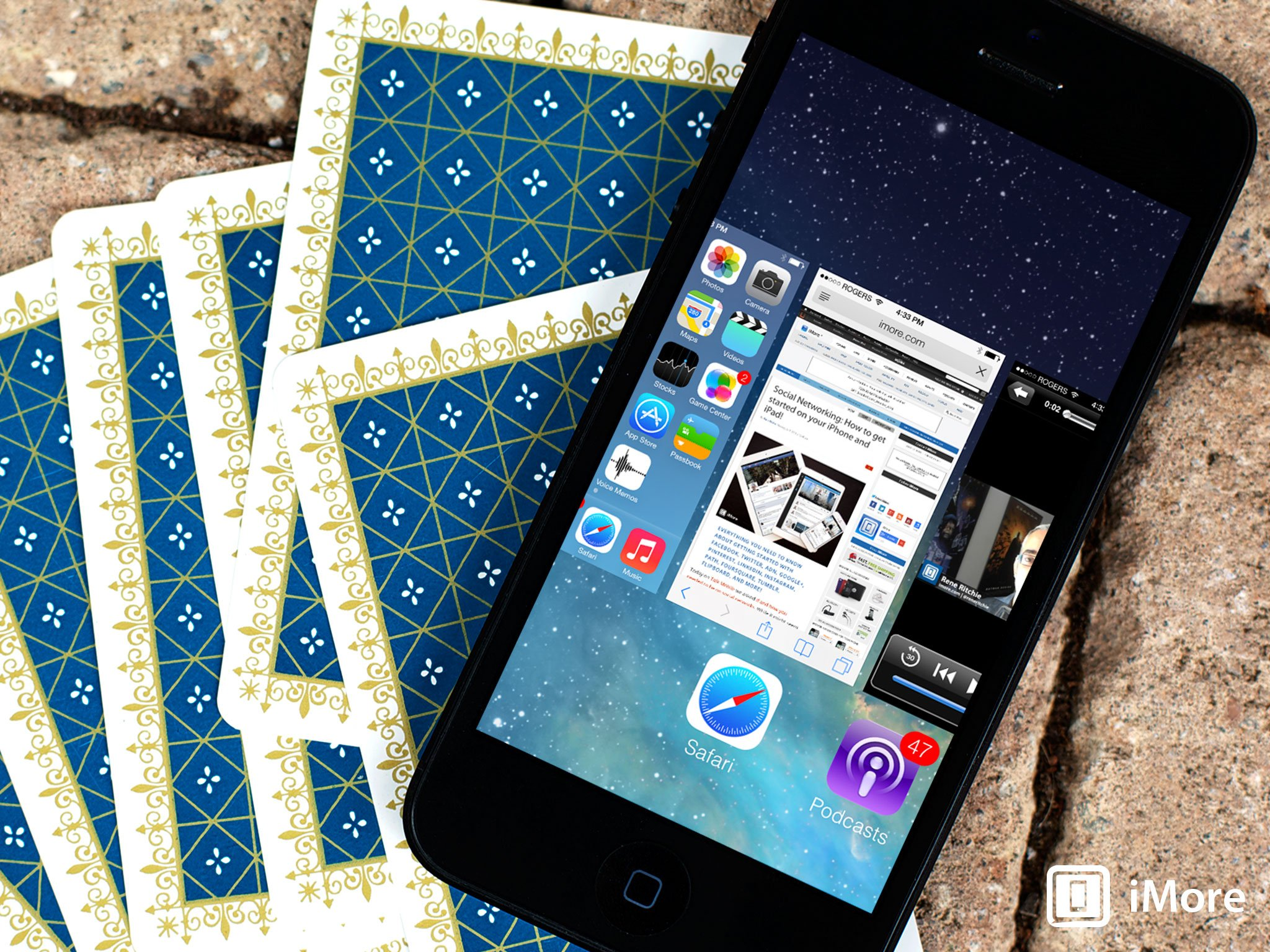 How to close up to three apps at one time with multitasking in iOS 7