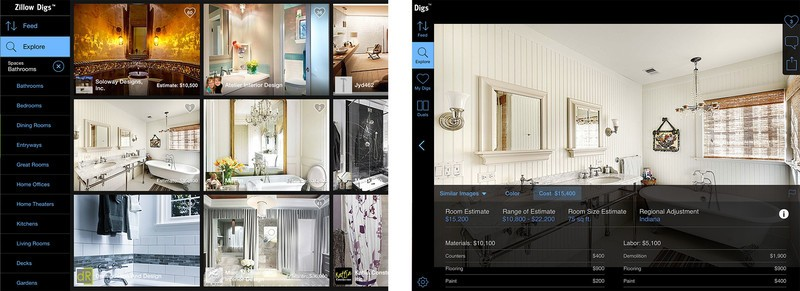 Best home design and improvement apps for iPad: Zillow Digs