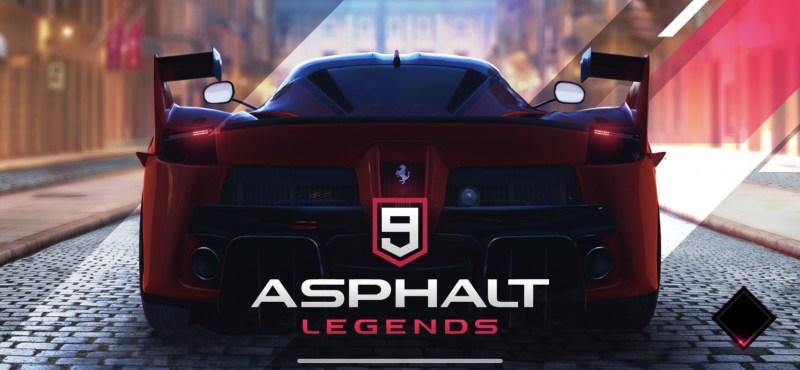 Asphalt 9 Legends Title Screen