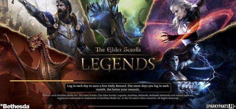 The Elder Scrolls Legends Title Screen