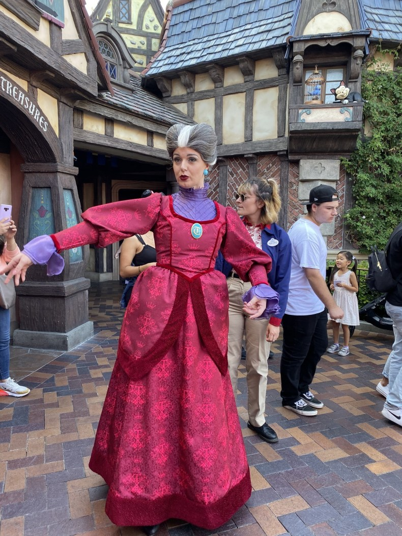 Evil Stepmother waltzes into the picture in Fantasyland at Disneyland