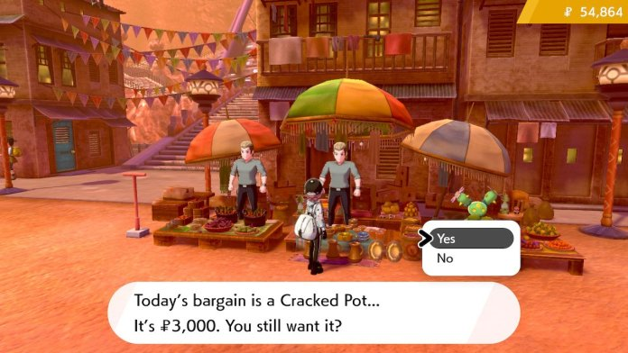 Obtaining the Cracked Pot in Pokemon Sword and Shield