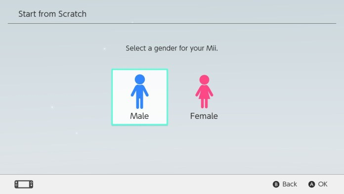 Select a gender