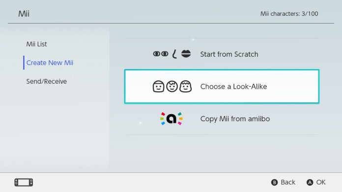 Select Choose a Look-Alike