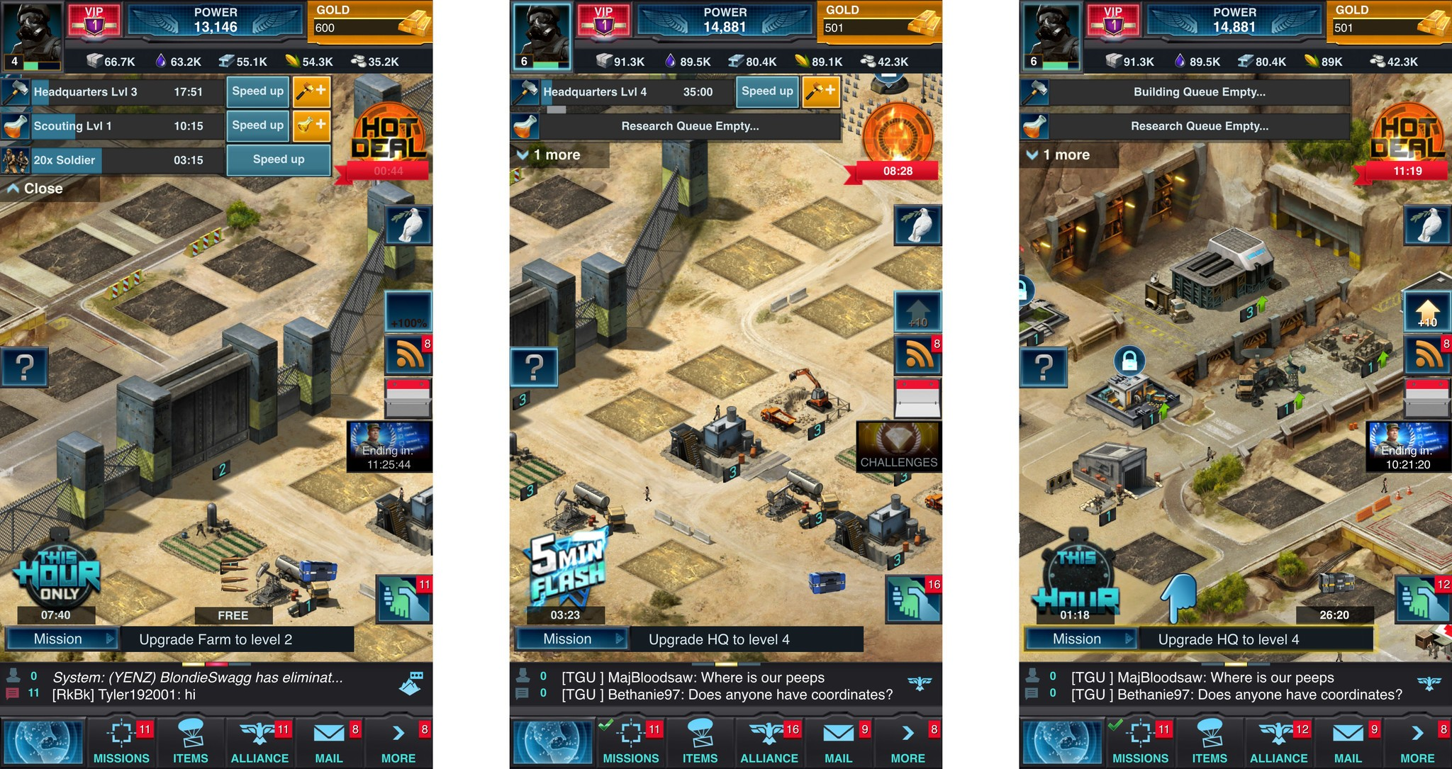 Mobile Strike Main Objective Is To Build The Biggest Richest And Most Powerful Army Command Center Youll Start The Game With Only A Few Buildings