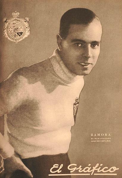 "Zamora na capa do ""El Gráfico"" de 1926: celebridade."