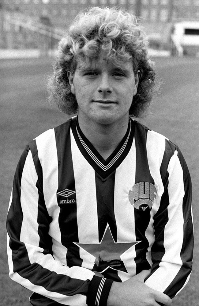 Gascoigne em começo de carreira, no Newcastle. Cara de santo...