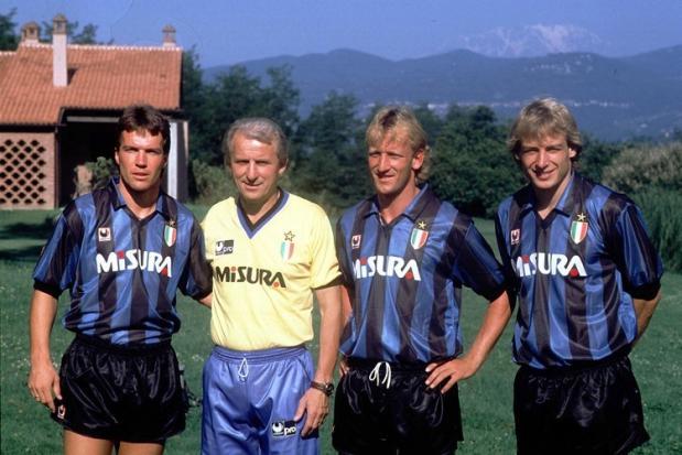 Matthäus, Trapattoni, Brehme e Klinsmann.