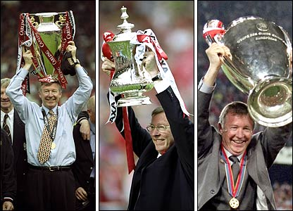 Três vezes Ferguson: Treble histórico em 1999.