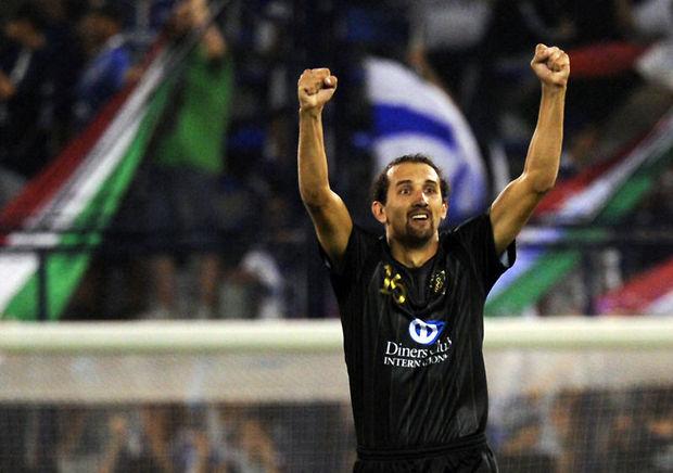 Hernán Barcos: ele supriu a ausência de Bieler com gols.