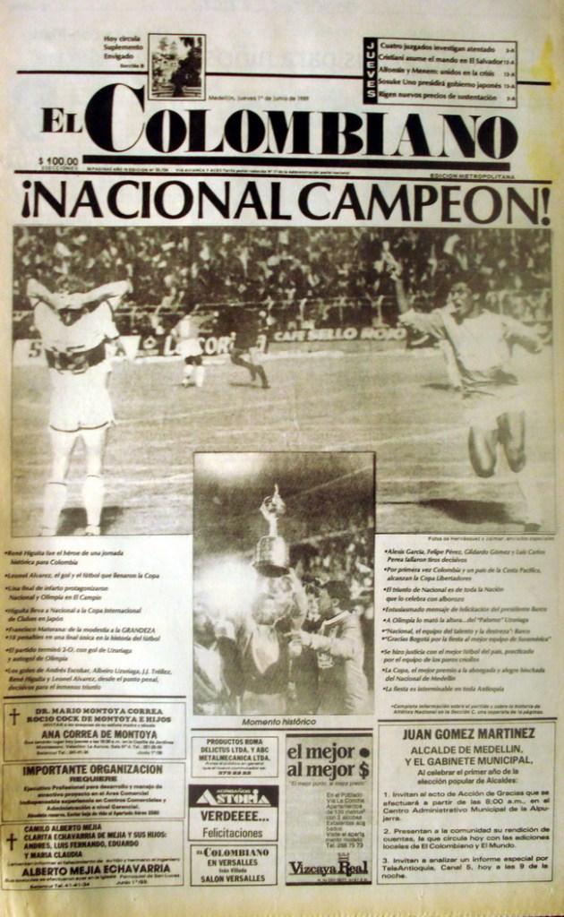 22- Nacional campeon copa libertadores -Jun 1 de 1989 BR