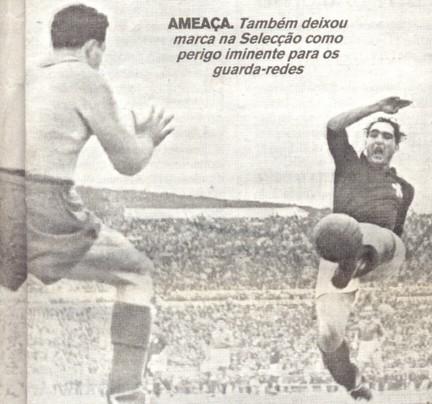 Pela seleção portuguesa, Peyroteo marcou 14 gols em 20 jogos.