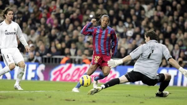 Contra o Real, Ronaldinho deu show...