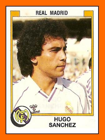O mexicano Hugo Sánchez virou uma das figurinhas mais famosas da história do Real Madrid.