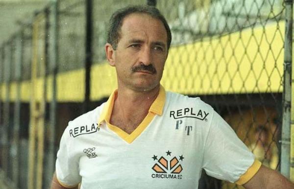 Felipão: no Criciúma, o técnico começaria sua inquestionável trajetória de sucesso e títulos.