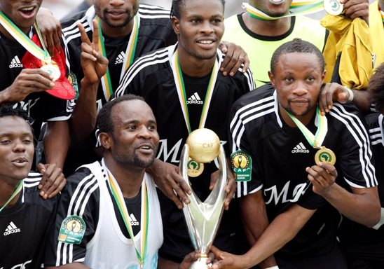 A festa com o título da Liga dos Campeões da CAF de 2009.