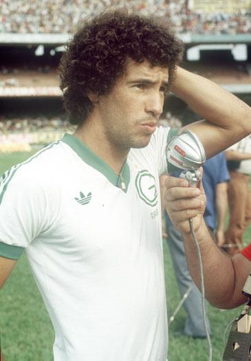 O jovem Careca: com apenas 17 anos, o atacante foi uma das apostas do técnico Carlos Alberto Silva em 1978.