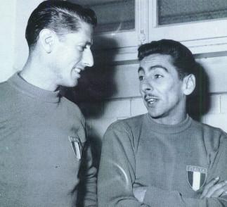 Schiaffino e Ghiggia: uruguaios vestiram a camisa da Itália nos anos seguintes à conquista do Mundial de 1950.