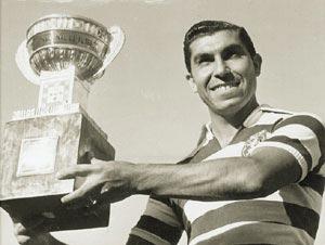 Travassos e um dos troféus ganhos pelo Sporting naquela era de ouro.