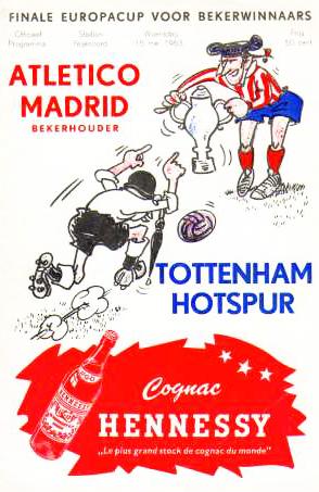 Cartaz da final da Recopa de 1963.