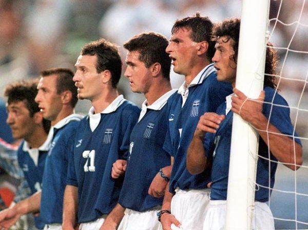 Os gregos na Copa de 1994: seleção nunca tinha conquistado nada no futebol nem figurava entre os maiores.
