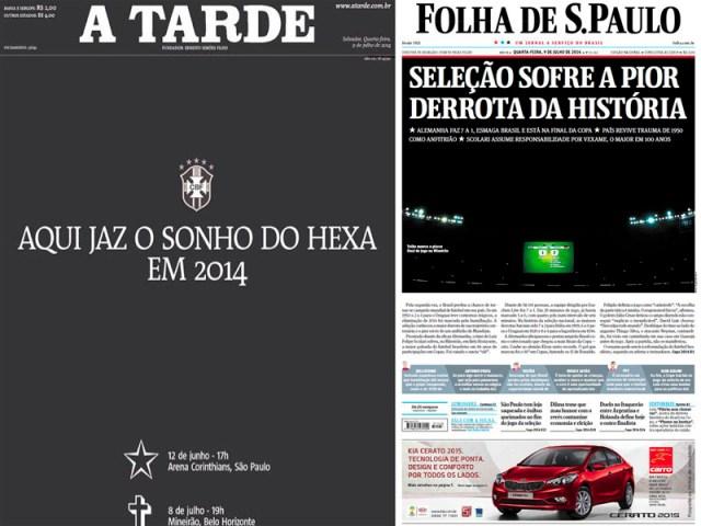A Tarde (Brasil) e Folha de S.Paulo (Brasil).
