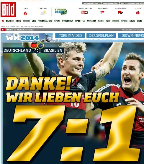Home-page do Bild (Alemanha).