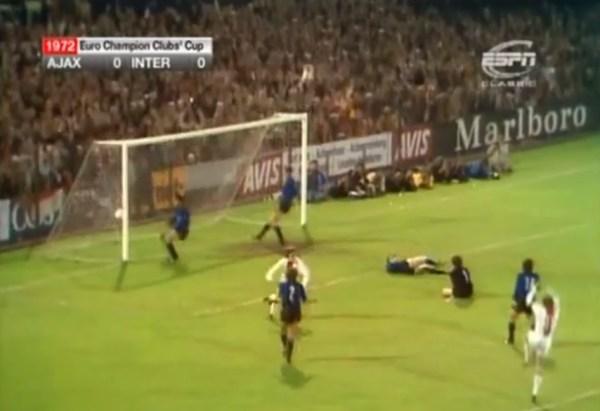 ... E o gol. Enfim, 1 a 0 para o Ajax!