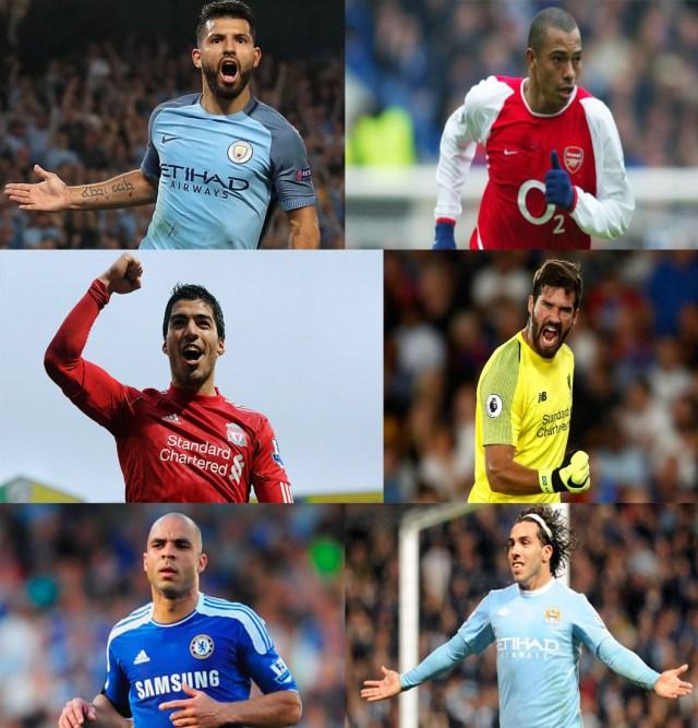 Grandes jogadores sul-americanos que já disputaram a Premier League
