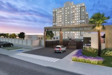 Ilha de Aruba, apartamentos de 2 quartos, 36m² a 45m², Turú, São Luís MA 4