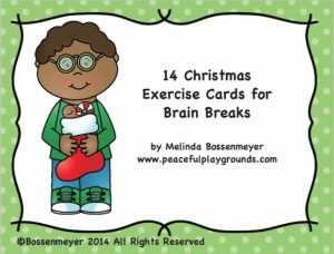 XMAS BRAIN BREAKS display