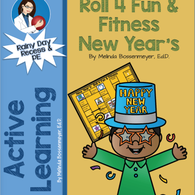 New Year's Roll for Fun and Fitness Board Game